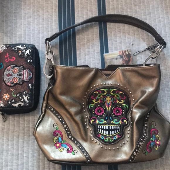 9eb30ba19abf Montana West Sugar skull purse